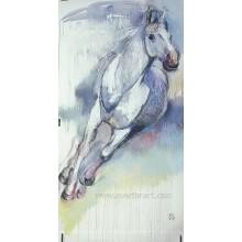 100% handgemachte Segeltuch-laufende Pferde Anstrich für Hauptdekor (EAN-375)