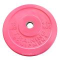 Großhandelsgewohnheit Gym Übung 5kg rosafarbene Gewicht-Platten