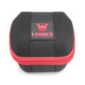 Caixa de relógio portátil personalizada exclusiva de veludo eva com bandeja interna
