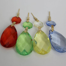 Acrylic Pear Shaped Diamond Crystal Chandelier Prism Pendant