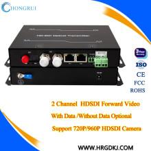 Fibra óptica do preço de fábrica de HongRui ao extender do SDI do transmissor video do hd-sdi