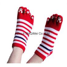 Factory Customized Colorful Design Five Toe Happy Socks