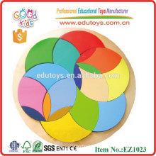EZ1023 Modèles de motifs en bois de cercle colorés préscolaires