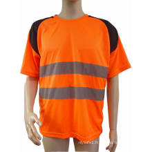 T-shirt réfléchissant de sécurité de haute qualité