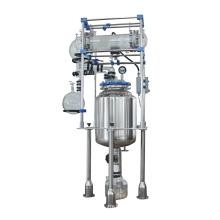 Reator revestido com agitador de vidro / recipiente de reação de laboratório