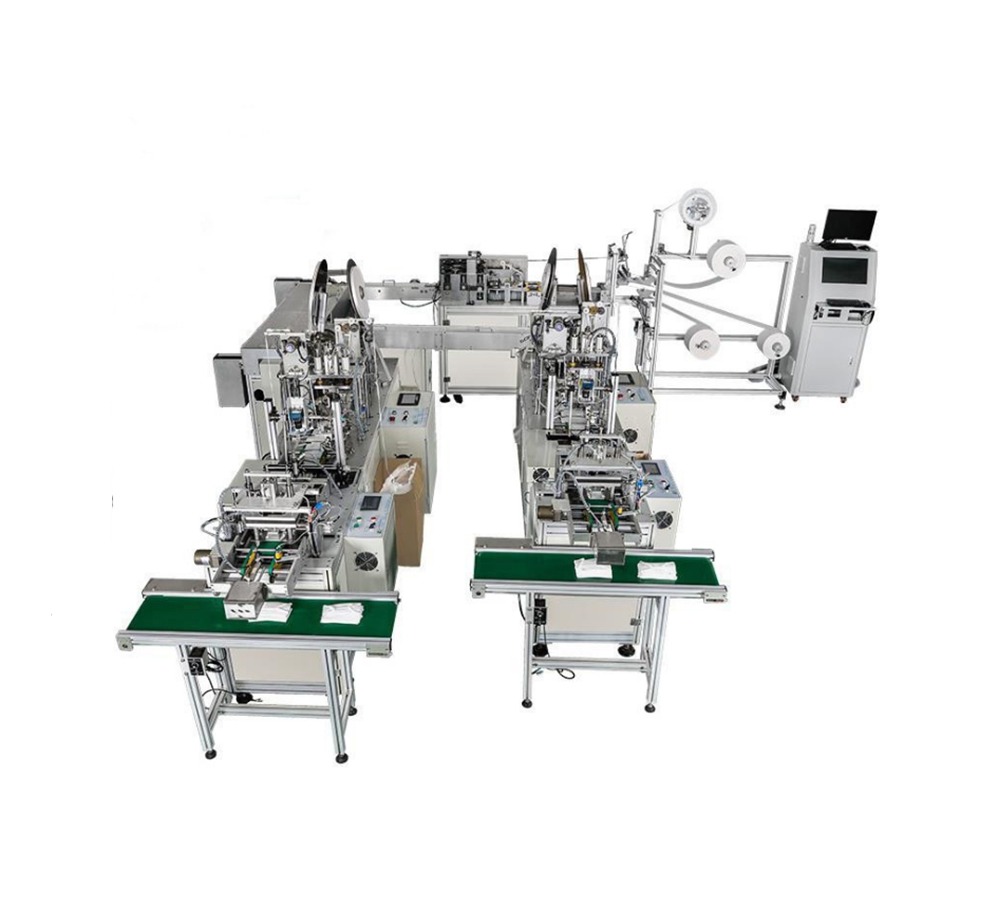 Automatic flat type face mask machine for surgical use