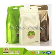 Umidade - saco feito-à-medida do empacotamento do chá da parte inferior do bloco liso do quadrado do reforço do lado da folha de alumínio da prova