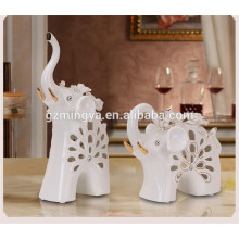 Different kinds of christmas decoration design or as home decoration pieces ceramic elephant craft from alibaba china website