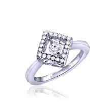 Heiße Verkauf 925 silberne Ring-Schmucksachen mit dem Tanzen-Diamanten