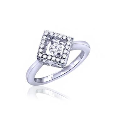 Jóias com jóias em prata com 925 jóias com diamante de dança