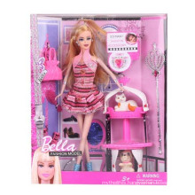 """11.5"""" Plastic Toy Fashion Doll with Accessories"""