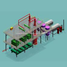 Labor Rohölraffinerie Destillationsturm