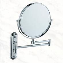 Espejo cosmético de baño de metal cromado con montaje en la pared para baño
