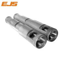 PVC rígido procesa barril bimetálico doble de extrusión