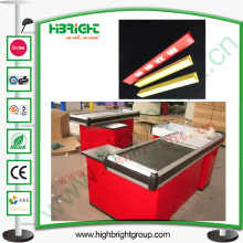 Check-out Counter Plastic Divider para publicidad