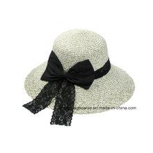Nova moda bowknot feltro chapéu fedora para as mulheres