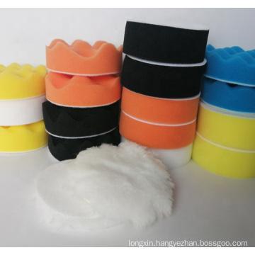100mm Wave Foam Sponge Waxing set Polishing Pad kit buffing pad