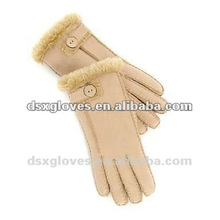 double face sheepskin fur gloves