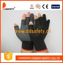 13 Gauge Nylon Polyester Seamless with Half Finger Glove Dkp528