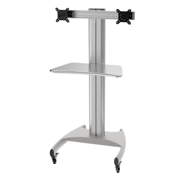 """Mobile Computer Workstation Single Monitor 10-24"""" Height Adjustment (PCM 1202A)"""