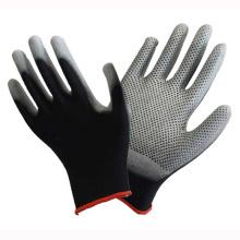 Polyester Liner Knit Wrist Black Gant en caoutchouc PU