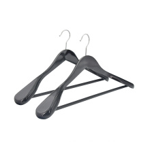 High quality hotel wooden hanger suit custom luxury wood suit hanger with bar