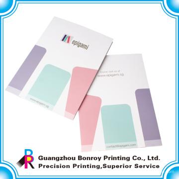 China popular colorido impressão a4 tamanho pasta de papel atacado
