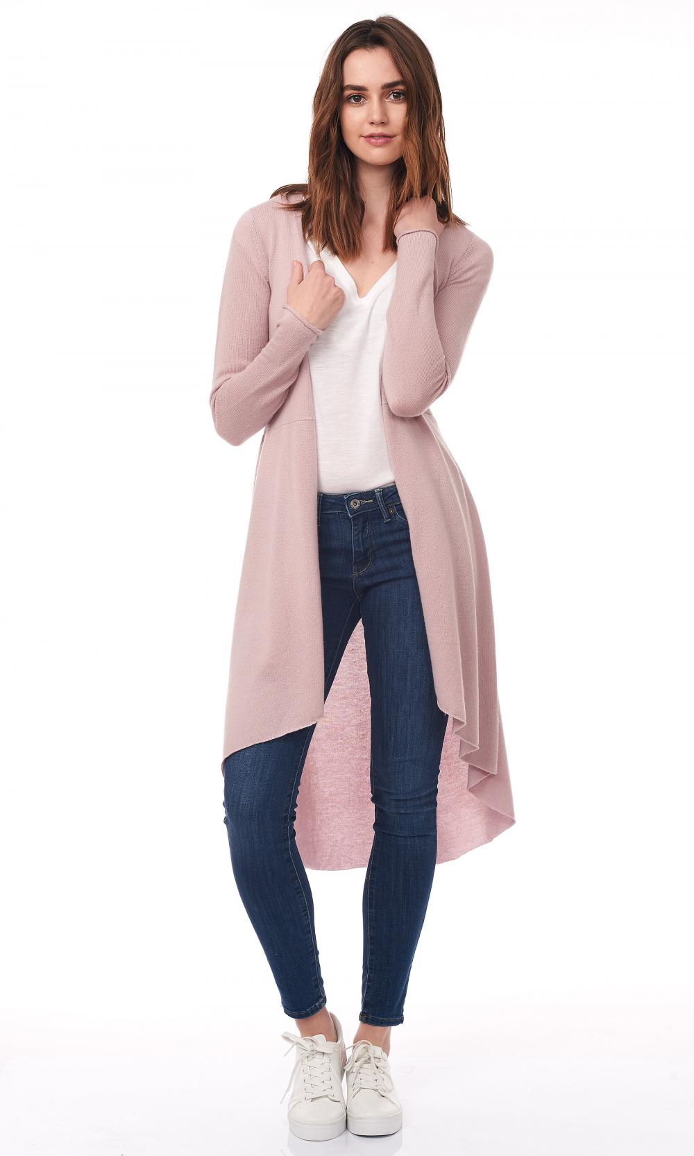 The Ladies Long Cardigan Flamed Duster