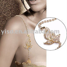 Jolie bande de soutien-gorge en cristal d'or