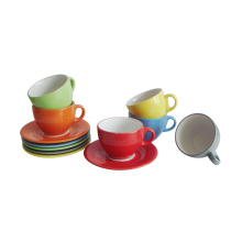 12PC Glass Glazed Cup and Saucer (91006-004)
