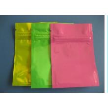 Material plástico y cierre de cremallera sellado impreso bolsas ziplock