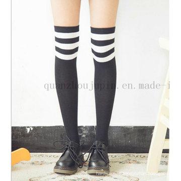 OEM Hot Sale Cotton Japanese Student Knee Stockings Socks