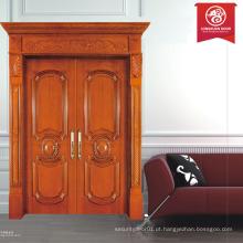 Interior madeira maciça porta dupla porta exterior porta de entrada do restaurante