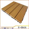 300*300*22mm Wood plastic composite interlocking outdoor plastic decking tiles WPC