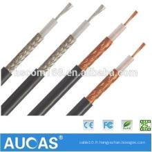 Machine coaxiale de fabrication de câbles pour câble coaxial rj58 Câble coaxial 75ohm 5c2v
