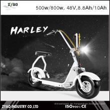 Stadtmobilität Citycoco 800W Brushless Erwachsener Mini Elektrischer Roller 2 Räder Elektrisches Motorrad