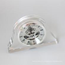 Horloge de bureau en cristal Horloge de table