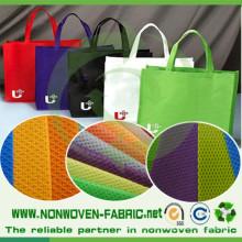 Tecido não tecido cruzado para sacola de compras