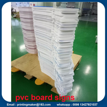 Poster Signs Printing on White PVC Board