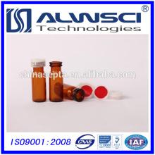 China fabricante 1,5 ml de vidro âmbar snap hplc frasco para extrusão automática