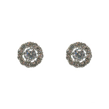Sparkling Fashion Round Crystal Stud Earrings