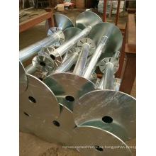 Construcción de pilotes de tornillo de tierra galvanizados
