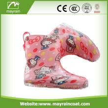 Lovely Kids Bright Color Rainboots con estampado de dibujos animados