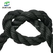 Black PE/Nylon/Polyethylene/Synthetic/Plastic/Fishing/Marine/Mooring/Packing/Twist/Twisted/Battle Rope