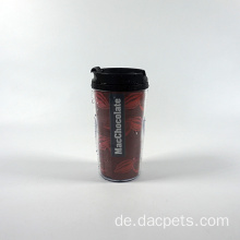 Portable Kunststoff Doppelwand Thermo Kaffeebecher