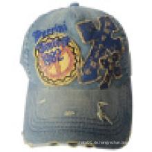 Gewaschene Kappe mit Applique DC09
