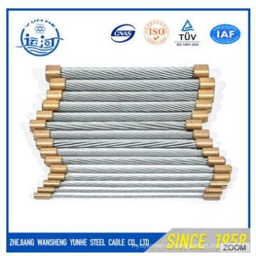 Fil en acier galvanisé Strand 1/8 '' /1X7-3.18mm Fil en acier recouvert de zinc