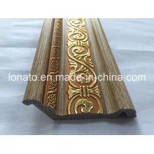 Cor de madeira PS decoração moldagem Cornice
