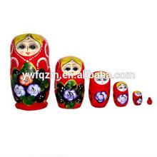 Fornecimento de fábrica de bonecas Matryoshka de madeira