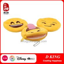 En71 certificado Emoji monedero monedero juguetes blandos para niños